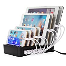 NEXGADGET USB Charging Station for Multi Device 50W 8-port Charging Dock Desktop USB Charger Charging Stand Organizer for iPhone, iPad, Tablets and Other USB-Charged Devices