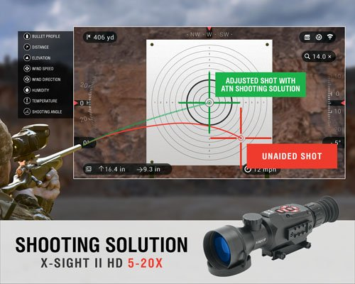 ATN X-Sight II 5-20x/85mm Smart Day & Night Rifle Scope w/1080p Video
