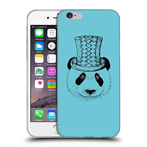 """GoGoMobile Coque de Protection TPU Silicone Case pour // Q08350627 Chapeau panada Cyan // Apple iPhone 6 4.7"""""""