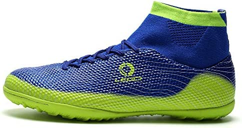 LEOCI Performance Turf Soccer Shoes Men and Boy Soccer Shoes Indoor Soccer Cleat