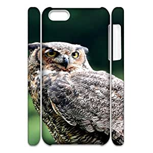 3D Animal 42 IPhone 5C Case, Men Case Iphone 5c Cases for Teen Girls Cheap Okaycosama {White}