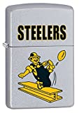Zippo Lighter - NFL Throwback Pittsburgh Steelers Satin Chrome
