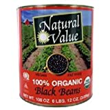 Natural Value Black Beans, 108 Ounce -- 6 per case.