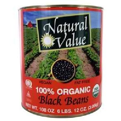 Natural Value Black Beans, 108 Ounce -- 6 per case. by Natural Value