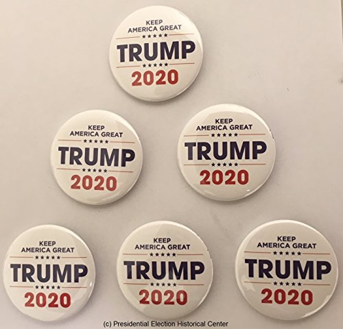 Keep America Great Trump 2020 campaign button set of 6 -