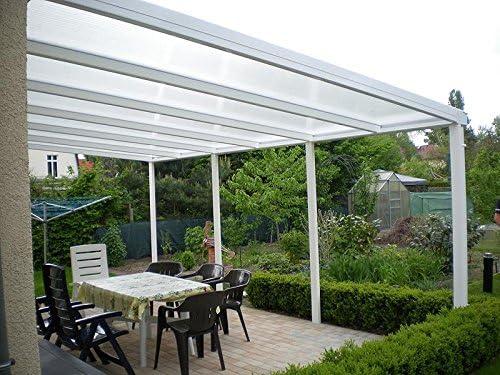 Aluminio prikker-überdachungen 800 x 400 cm ajuste de inclinación ...