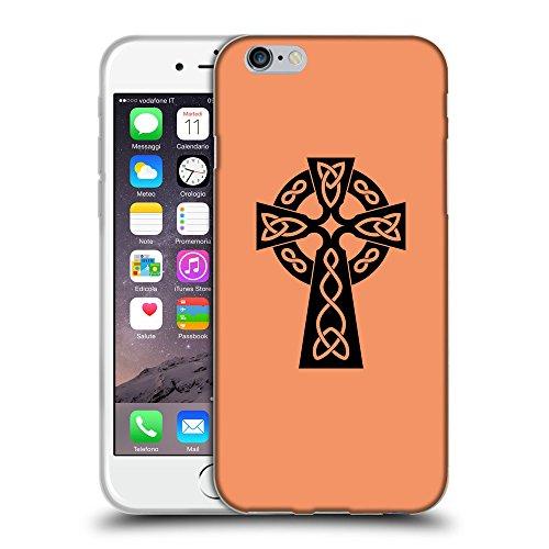 "GoGoMobile Coque de Protection TPU Silicone Case pour // Q07850607 Christian Cross 10 Mandarine // Apple iPhone 6 PLUS 5.5"""