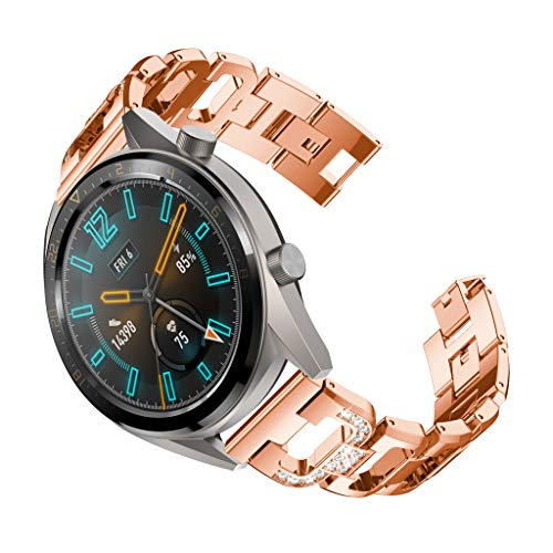 Finedayqi ❤ Replacement Metal Crystal Watch Strap Wrist Band for Huawei Watch GT (Rose Gold) by Fineday (Image #2)