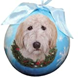 Image of Goldendoodle Christmas Ornament Shatter Proof Ball Easy To Personalize A Perfect Gift For Goldendoodle Lovers
