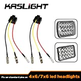 KASLIGHT H4 Harness - Pair H4 Socket H4 to 3 Pin Adapter H4 9003 HB2 Harness H4 Headlight Harness H4 Wiring Harness, Fix Un-standard Pins on H4 Headlamps, like 7x6 5x7 4656 H4656 4x6 Led Headlights