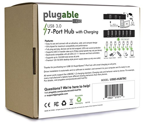 Plugable USB SuperSpeed 60W Power Adapter