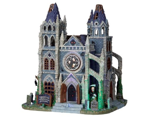 Lemax 05010 Forgotten Souls Cathedral Spooky Town Lighted Building Halloween Decor -