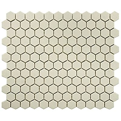 SomerTile Antique Hex Porcelain Floor and Wall Tile
