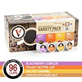 Peanut Butter Cup, Salted Caramel, Blackberry Cobbler, and Chocolate Hazelnut Variety Pack for for K-Cup Keurig 2.0...