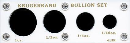 "Capital Plastic 2/"" x 6/""  Krugerrand Bullion Set 4-Coin Black"