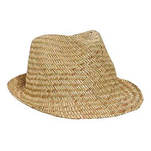 - Product of Ottocap Natural Straw Fedora -Natural, M [Wholesale Price on Bulk]