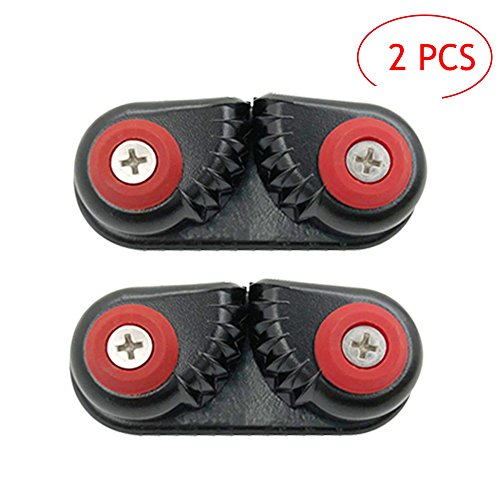 Walmeck 2PCS Kayak Cam Cleat Boat Canoe Sailing Boat Dinghy Aluminum Cam Cleats Fast Entry Kayak Cleats
