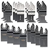 Pukido 20pcs Saw Blades for Fein Black and Decker Bosch Multitool Oscillating Tools