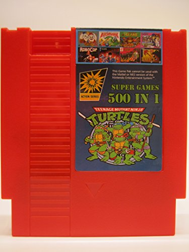 Price comparison product image 500 in 1 Super Games Red NES Cartridge - SOLID RED - 8-Bit 72-Pin Multi Cart