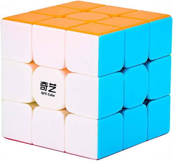 D ETERNAL QiYi Warrior W 3x3 Stickerless High Speed ABS Plastic Rubic Cube Magic Puzzle Cube
