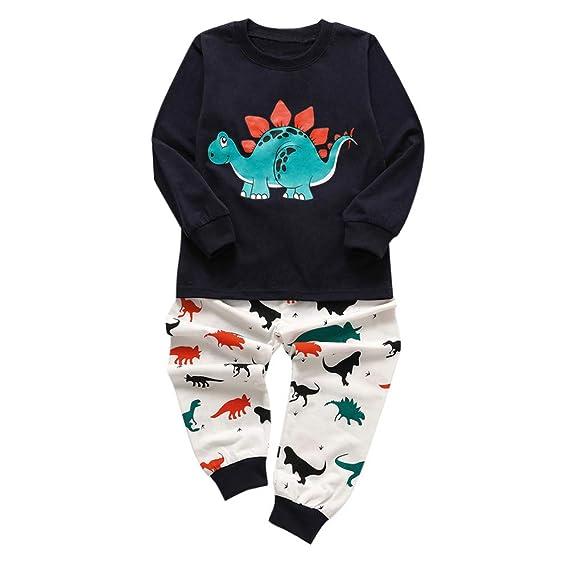 Conjuntos Bebe Bautizo Invierno, ❤ Zolimx Recién Nacidos Bebés Niños Niñas Pijamas de Animal de Dibujos Animados Tops + Pantalones Ropa Newborn Baby ...