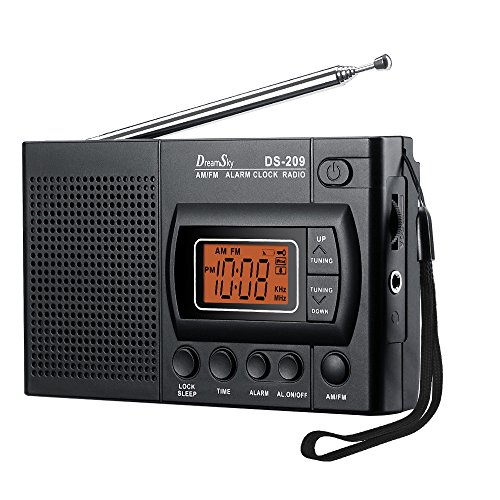 DreamSky Portable AM/FM Radio Alarm Clock
