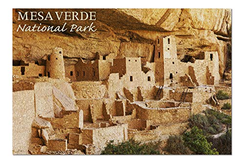 Mesa Verde National Park, Colorado - Cliff Palace Photograph (20x30 Premium 1000 Piece Jigsaw Puzzle, Made in USA!)