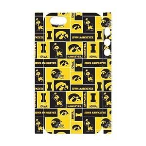 Generic Customize Unique Phone Case--NCAA Iowa Hawkeyes Team Logo Plastic Case Cover for iPhone5 iPhone5S