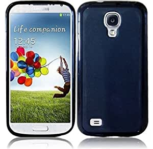 TPU Frosted Gel Rubber Skin Soft Cover Case For Samsung Galaxy S4 mini I9190 - Black