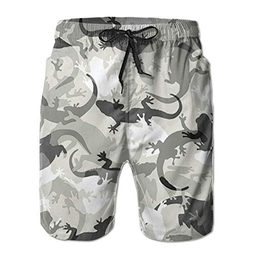 Board Cool Casual Mens Gecko Short Pants Beach Camo Lizard Athletic Camouflage Shorts 7wEqAI