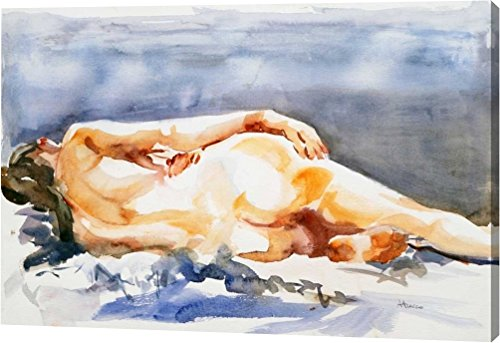 """Nudo by Alessandra Arecco - 12""""x18"""" Gallery Wrapped Giclee Canvas Art Print - Ready to Hang"""