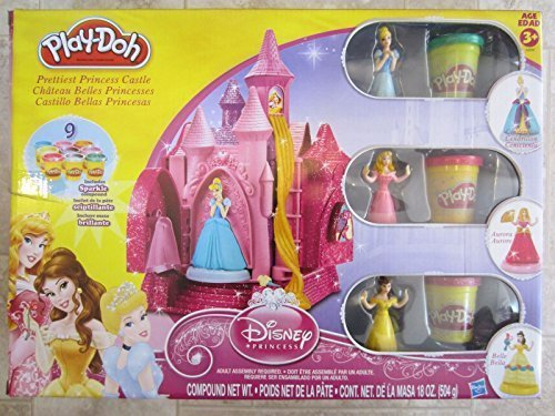 Play-Doh Disney Prettiest Princess Castle with Sparkle Compound Play-Doh (Play Dough Castle compare prices)