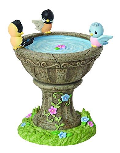 [Precious Moments, Rotating Birdbath Figurine, Music Box, 154107] (Precious Moments Bath)