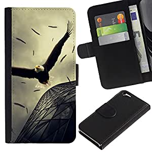 All Phone Most Case / Oferta Especial Cáscara Funda de cuero Monedero Cubierta de proteccion Caso / Wallet Case for Apple Iphone 6 // Eagle Soaring Flight Architecture Powerful