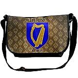 Lov6eoorheeb Unisex Coat Of Arms Of Republic Of Ireland Wide Diagonal Shoulder Bag Adjustable Shoulder Tote Bag Single Shoulder Backpack For Work,School,Daily