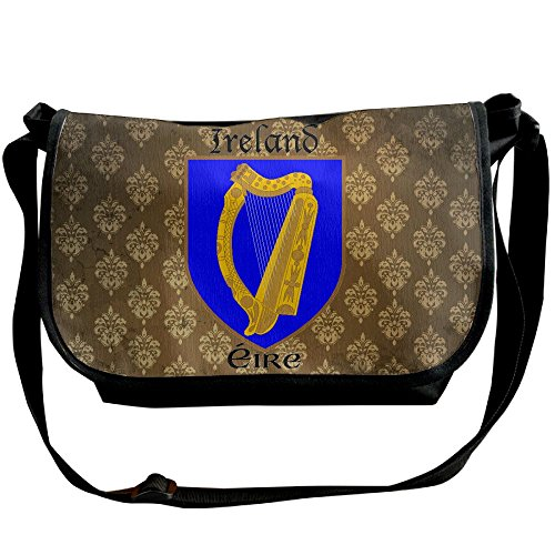 Lov6eoorheeb Unisex Coat Of Arms Of Republic Of Ireland Wide Diagonal Shoulder Bag Adjustable Shoulder Tote Bag Single Shoulder Backpack For Work,School,Daily by Lov6eoorheeb