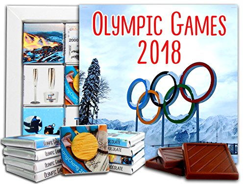 (DA CHOCOLATE Candy Souvenir OLYMPIC GAMES 2018 Chocolate Gift Set 5x5in 1 box (Rings))