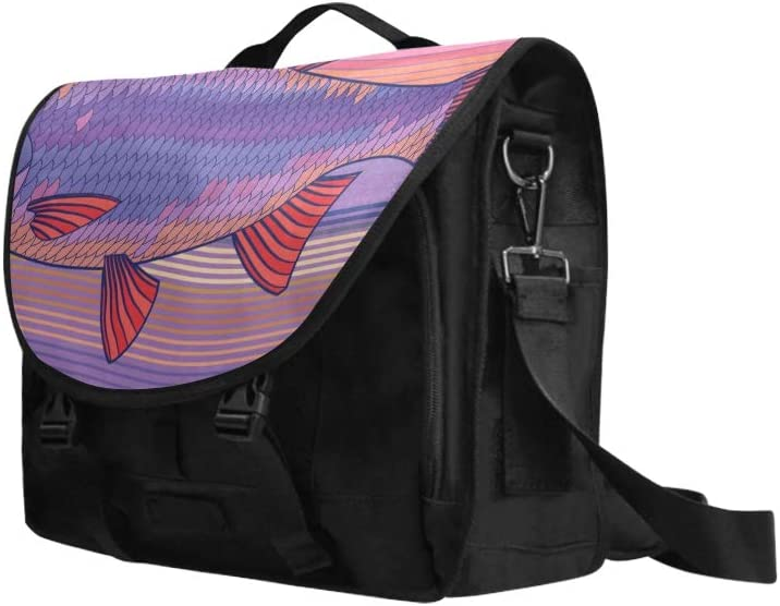 Teen Shoulder Bag Adult Stress-Resistant Colorful Fish Multi-Functional Womans Carrying Bag Fit for 15 Inch Computer Notebook MacBook