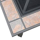 Axxonn 2-in-1 Malaga Square Tile Top Wood Burning