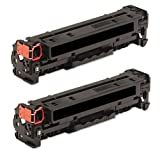 HI-VISION HI-YIELDS ® Compatible Toner Cartridge Replacement for Hewlett-Packard (HP) CF210A (2 Black, 2-Pack), Office Central