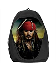 Jack Sparrow (Johnny Depp) Pirate of Carribean Popular School Backpack Bag