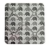 Bacati Elephants Unisex Fabric Memory/Memo Photo Bulletin Board, Grey