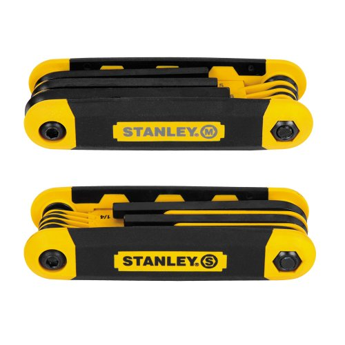 Stanley STHT71839 Folding Metric and Sae Hex Keys, 2-Pack (Wrench Metric Allen)