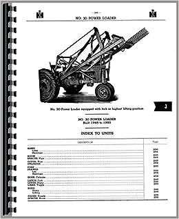 Parts Manual International Harvester 30 31 Power C32 Loader
