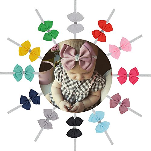 Baby Headbands Hair bows, Girls Hairbands for Newborn,Toddler and Childrens
