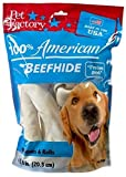 Pet Factory 78206 Made in USA Value Pack 8-9 Rawhide Chews for Dogs 6 Pack