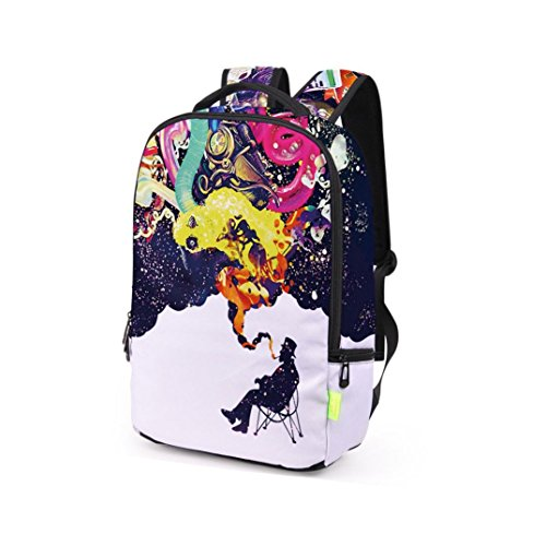 3D Satchel Shoulder Bag Backpack A Womens Men's Travel Galaxy Bookbag Rucksack School SIwq5x06n