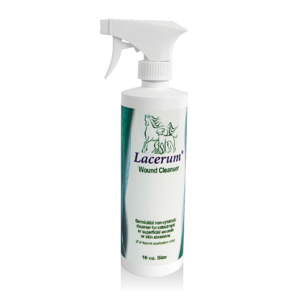 Lacerum Wound Cleanser for Dogs, Cats & Horses, 16oz by Lacerum