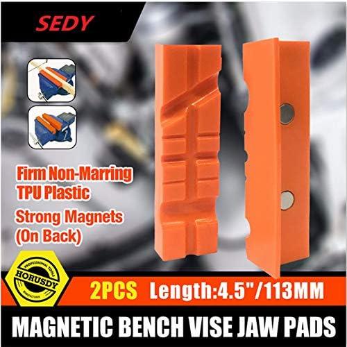 [해외]SEDY2PC 4.5Magnetic Bench Vice Jaw Pad Multi-Groove Vise Holder Grips Heavy For Milling Cutter For Drilling Machine Accessories / SEDY2PC 4.5Magnetic Bench Vice Jaw Pad Multi-Groove Vise Holder Grips Heavy For Milling Cutter For Dr...