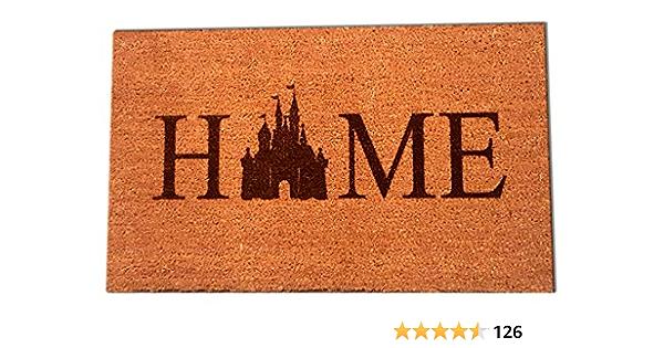 Disney Welcome PVC Backed Novelty Funny Coir Door Mat 40cm x 60cm 0